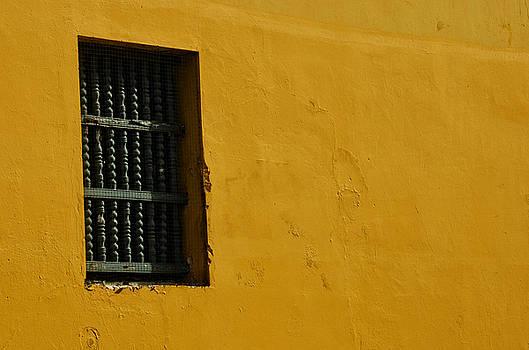 Yellow wall by Ricardo Dominguez