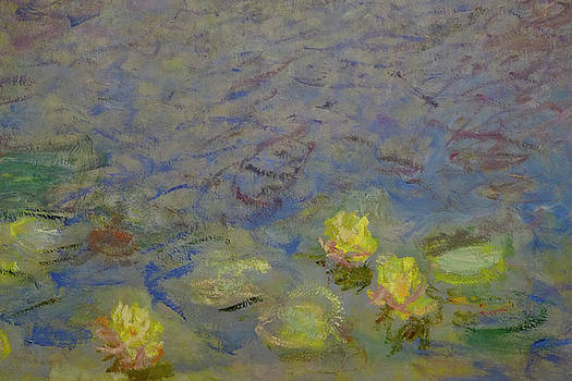 Yellow Water Lilies Monet by August Timmermans