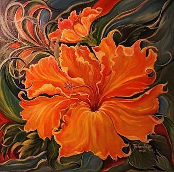 Yellow Wild Hibiscus by Yolanda Rodriguez