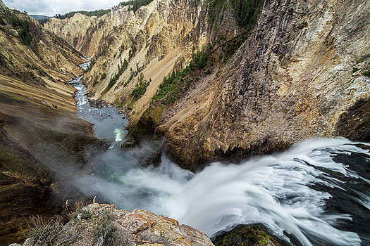 Yellowstone Falls by Wesley Aston