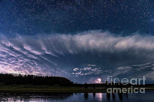 Tibor Vari - Yellowstone River Lightning Storm and Stars