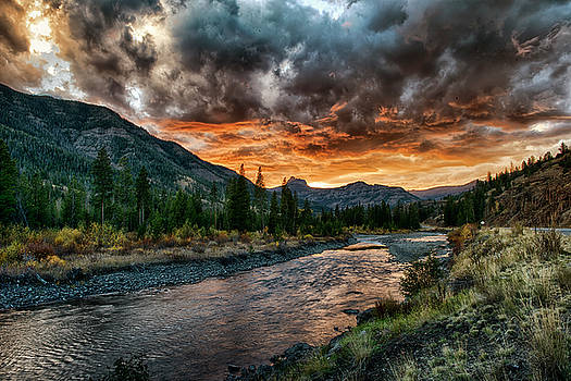 Yellowstone River Sunset by Donna Caplinger