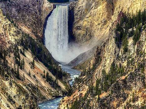 Yellowstone Upper Falls by Charlotte Schafer