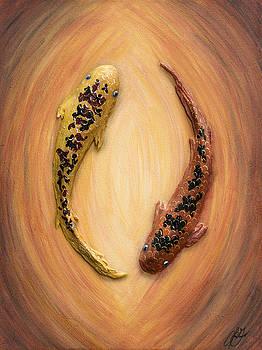 Yin Yang Koi - One by Lori Grimmett