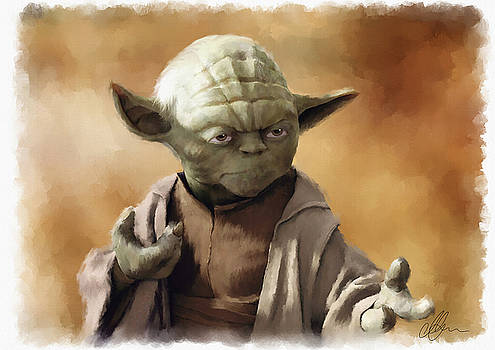 Yoda, Star Wars, may the force be with you. by Michael Greenaway
