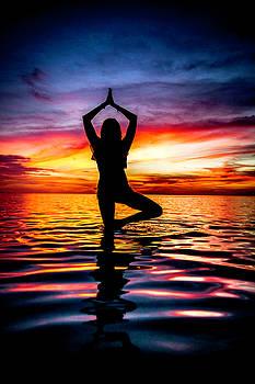 Yoga in the Ocean by Renee Sarasvati