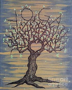 Yoga Love Tree by Aaron Bombalicki