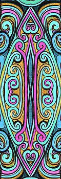 Yoga Mat Swirly design by Stephen Humphries