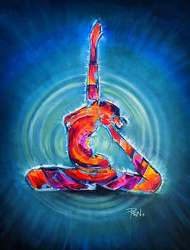 Yoga Pose by Renee Sarasvati