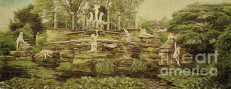 York House Gardens Statues - Twickenham by Leigh Kemp