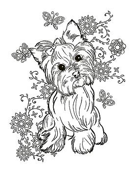 Tamer and cindy elsharouni artwork for sale lakeland for Yorkie coloring pages