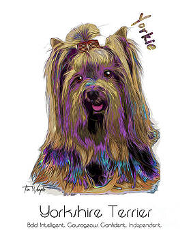 Yorkshire Terrier Pop Art by Tim Wemple