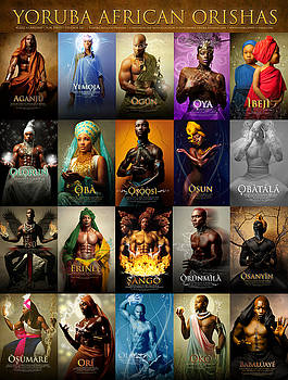 Yoruba African Orishas Poster by James C Lewis
