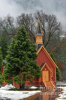 Yosemite Church in Winter #2 by Tibor Vari
