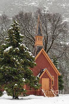 Yosemite Church in Winter Snow by Tibor Vari