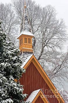 Yosemite Church In Winter by Tibor Vari