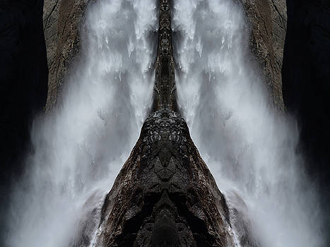 Yosemite Falls Art Mirror by Kyle Hanson