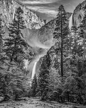 Yosemite Falls BW by Tim Sullivan