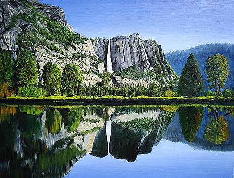 Yosemite falls inspired from a David Muench Photo by Stephen Ponting