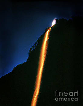 California Views Mr Pat Hathaway Archives - Yosemite Firefall from Yosemite Valley circa 1958