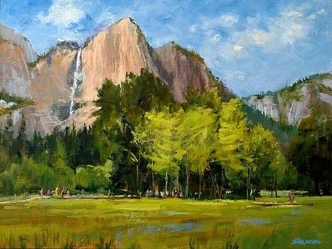 Yosemite - Ribbon Falls by Peter Salwen
