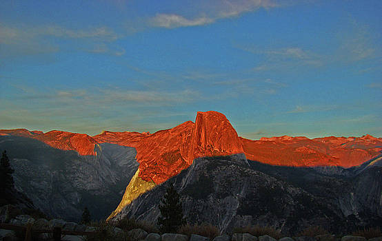 Yosemite Summer Sunset Abstracted 1 by Walter Fahmy