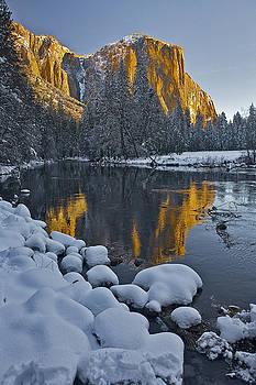 Yosemite Sunrise El Capitan and a Blanket of Snow by Patrick Flood