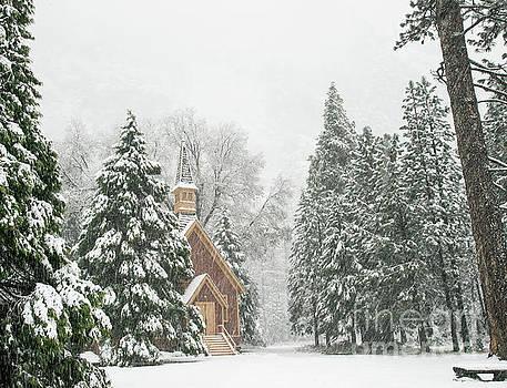 Yosemite Valley Chapel Winter by Wayne Moran
