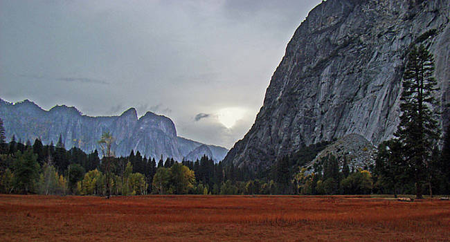Yosemite Valley Fall Sunset 2012 by Walter Fahmy
