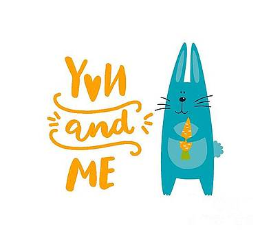 You and Me Bunny Rabbit by Edward Fielding