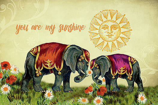 Peggy Collins - You Are My Sunshine Elephants