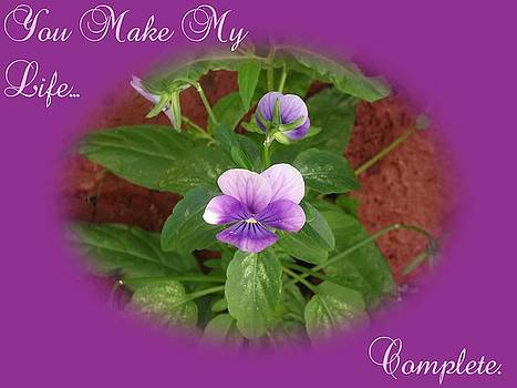 You make My Life....  purple by Dawn Hay