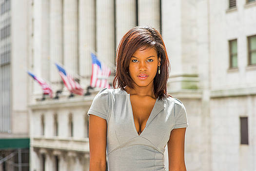 Alexander Image - Young African American Businesswoman traveling, working in New Y