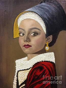 Young Ballerina in Vermeer Style by Mitzisan Art LLC