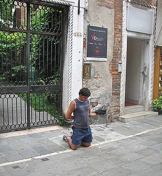 ITALIAN ART - Young begger