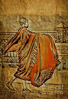 Young Buddhist Monk by Lita Kelley