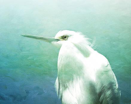 Young Egret by Ken Reardon