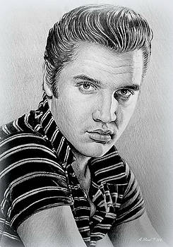 Young Elvis bw by Andrew Read