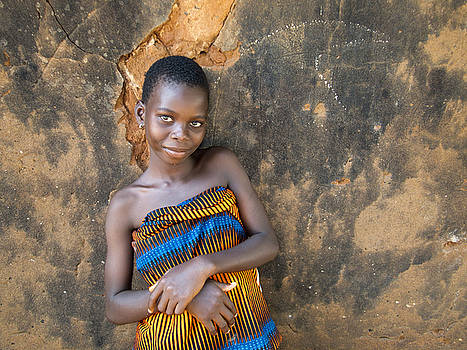 Young girl in a Togo Village  by David Smith
