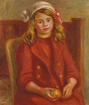 Pierre Auguste Renoir - Young Girl with an Orange