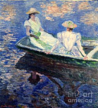 Monet - Young Girls In A Rowboat