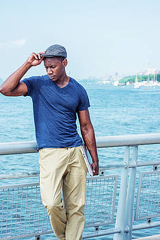 Young Handsome African American Man in New York 17061836 by Alexander Image