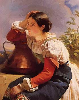 Winterhalter Franz Xaver - Young Italian Girl By The Well