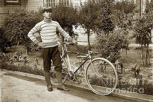 California Views Mr Pat Hathaway Archives - Young Japanese Man with his Bike Circa 1915