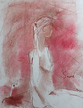 Young Lady with Bird by Michael Sime