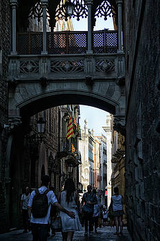 Young Love - Barcelona Spain by Russell Mancuso