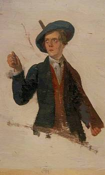 Young Man With A Musket by Harvey George