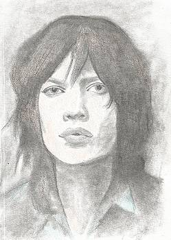 Young Mick Jagger by Amber Stanford