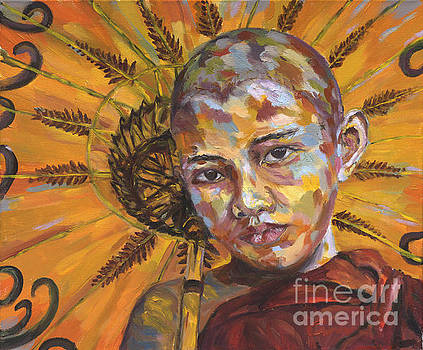 Young Monk by Michael Cinnamond