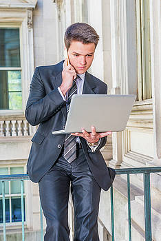 Young School Boy Working remotely 15042510 by Alexander Image